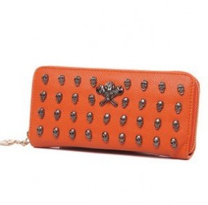 New-Hot-Ladies-s-Leather-Skull-Rivet-WALLETS-fashion-women-wallets-ladies-long-purse-bag