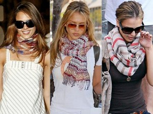 how do you were your summer scarves