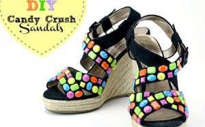 Sandalias estilo Candy Crush